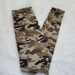 3/$30 soft and fuzzy camo leggings